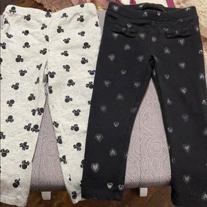 2 pairs of Minnie Mouse Disney leggings